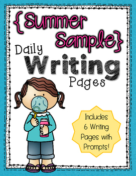 Daily Writing Pages {Summer Sample}