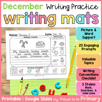 December Writing Paper and Prompts