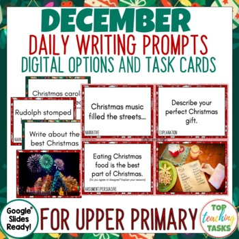Daily Writing Prompts - PowerPoint, Journal and Worksheet