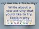 Daily Writing Prompts U1W1 Treasures