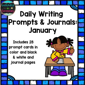 Daily Writing Prompts and Journals- January Set