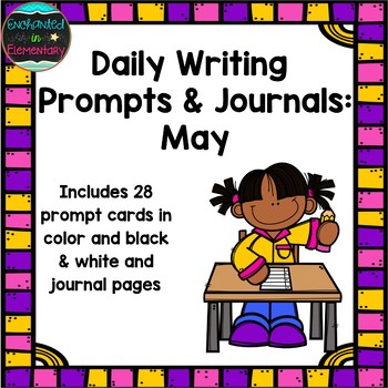 Daily Writing Prompts and Journals- May Set