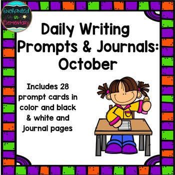 Daily Writing Prompts and Journals- October Set