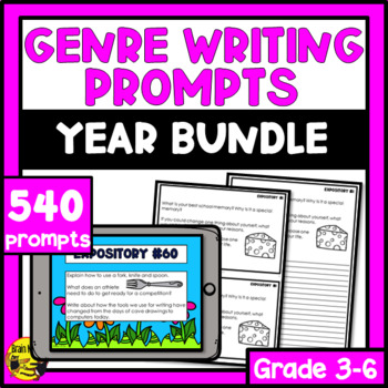 Daily Genre Writing Prompts - Bundle