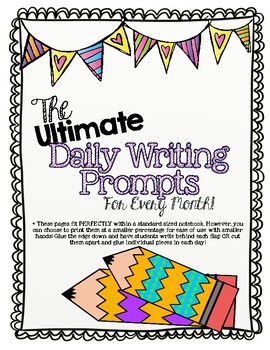 Daily Writing Prompts for Each Month!