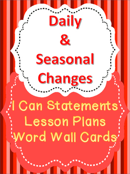 Science - Daily and Seasonal Changes Unit Plan for Saskatc