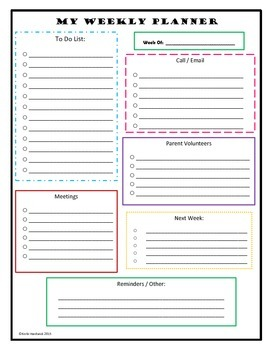 Daily and Weekly Planner Sheet FREEBIE