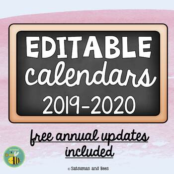 Printable calendars-Aug 2016 to July 2017-FREE ANNUAL UPDATES