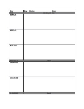 Daily planning pages