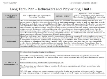 Playwriting and icebreakers unit with daily smartboard activities