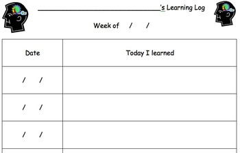Daily/Weekly Learning Log