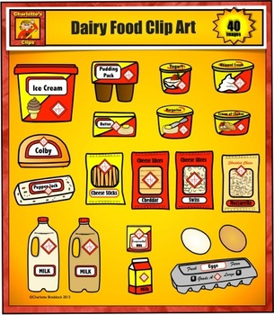 Food and Grocery Store Clip Art - Dairy from Charlotte's Clips
