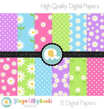 Daisies Digital Papers