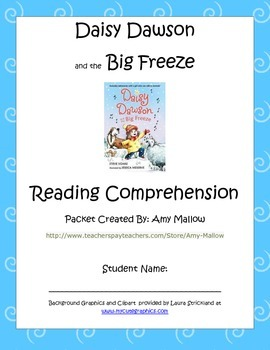 Daisy Dawson and the Big Freeze Reading Packet