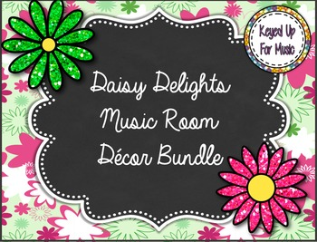 Daisy Delights Music Room Decor Bundle