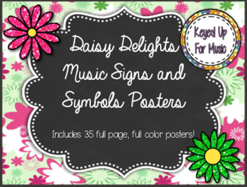 Daisy Delights Music Symbols, Notes, and Rests