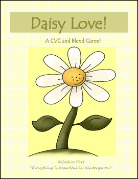 Daisy Love!  A CVC and Blend Game!