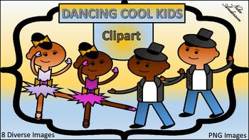Dancing Cool Kids Clip Art