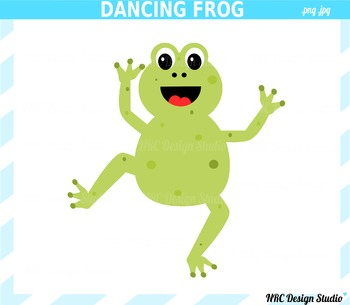 Dancing Frog Clip Art - Commercial Use Clipart