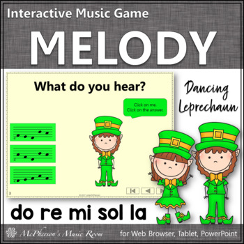 Dancing Leprechaun Do Re Mi Sol La {Interactive Melody Game}