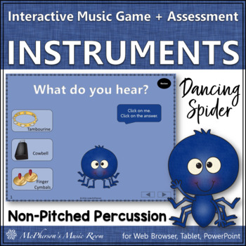 Dancing Spider Non-Pitched Percussion {Interactive Music G