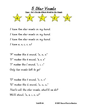 Danco Phonics Five Star Vowel Song