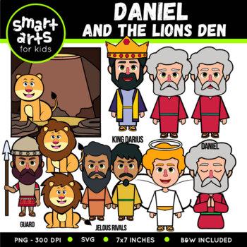 Daniel In The Lions Den Digital Clipart