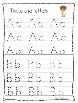 Daniel and the Lions Den A-Z Tracing Worksheets. Printable