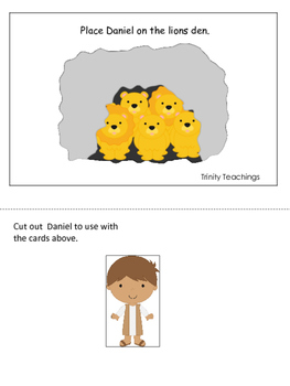 Daniel and the Lions Den printable Positional Cards.  Pres
