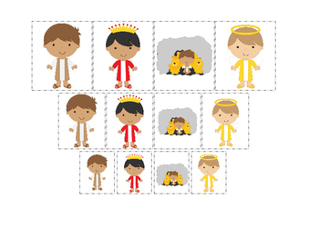 Daniel and the Lions Den printable Size Sorting Game.  Pre