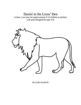 Daniel in the Lions' Den Children's Play