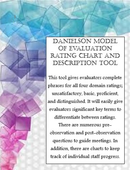 Danielson Model of Evaluation Rating Chart and Description