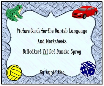 Danish Picture Cards and Worksheets