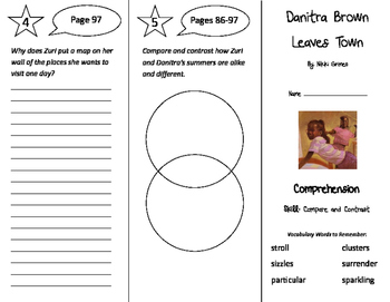 Danitra Brown Leaves Town Trifold - Storytown 4th Grade Un