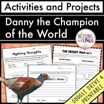 Danny the Champion of the World: Reading Response Activiti
