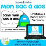French School Supply Reader {Dans mon sac à dos} & Cut & P