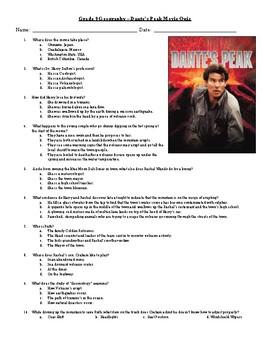 Dante's Peak Quiz