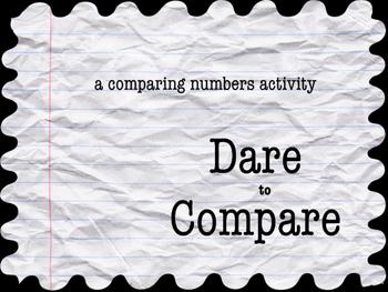 Dare to Compare! Using < > symbols