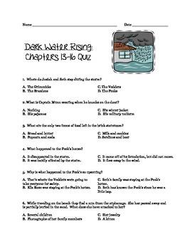 Dark Water Rising: Chapters 13-16 Quiz