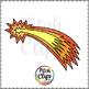 Darlene's Comet Clip art (Clip Art) Flying Star - Commerci