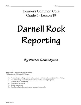 Journeys Common Core 5th- Darnell Rock Reporting Supplemen