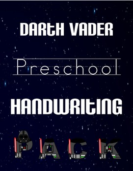 Darth Vader Preschool Handwriting Pack