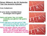 Das deutsche ABC / The German alphabet / Spelling in German