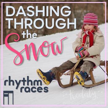 Dashing Through the Snow Rhythm Races: tiri-ti