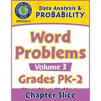 Data Analysis & Probability: Word Problems Vol. 3 Gr. PK-2