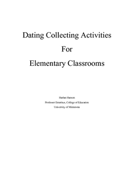 Data Collecting Activities for Elementary Classrooms