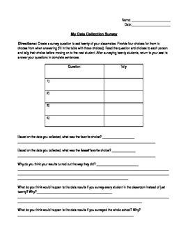 Data Collection Survey