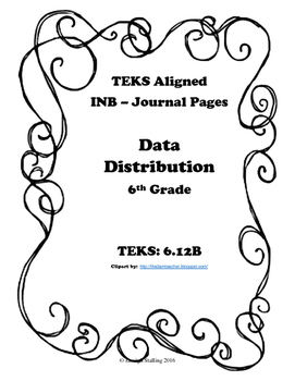 Data Distribution INB TEKS 6.12B