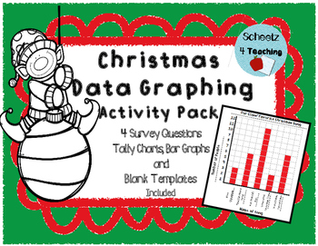 Data Graphing Activity Pack - Christmas Themed