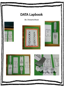 Data Lapbook with editable organizers, foldables, & graphs